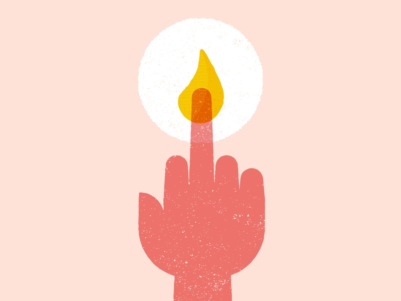 Vectober 10/19 - Scorched hand candle texture flat illustration vectober2018 inktober2018 vectober inktober