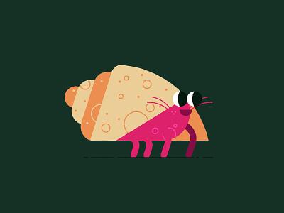 Vectober 10/20 - Breakable flat cute ocean sea creature hermit crab crab vectober2018 inktober2018 vectober inktober