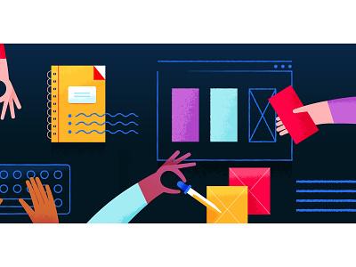 Collab hand collaboration design texture illustration