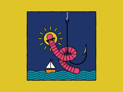Vectober 03 - Bait cool fishing bait worm inktober2019 vectober2019 inktober vectober