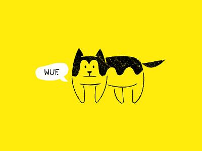 Vectober 06 - Husky line art vectober2019 inktober2019 husky dog inktober vectober geometric texture flat illustration