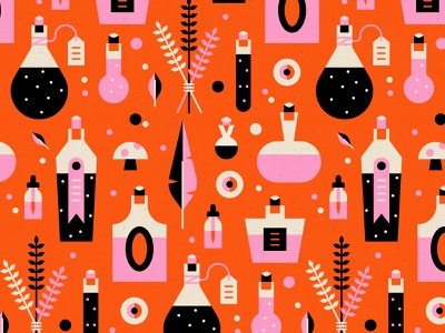 Vectober 10 - Pattern pattern inktober2019 vectober2019 spell potion witch halloween vectober inktober geometric texture flat illustration