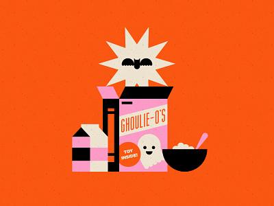 Vectober 21 - Treasure milk ghost bat halloween cereal inktober vectober geometric illustration texture flat