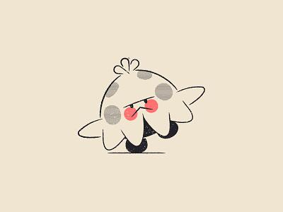 Vectober - 30 - Catch catch mushroom shroomish pokemon line art texture inktober vectober flat illustration