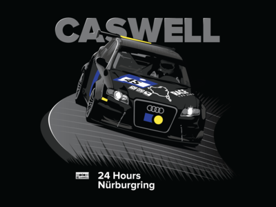 Bill Caswell Nürburgring T-Shirt Concept Illustration