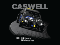 Bill Caswell Nürburgring T-Shirt Concept Illustration
