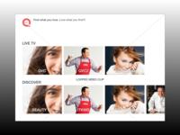 UX/UI Design for a QVC Amazon Fire TV App POC