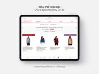 iOS UX/UI Design for Shoppable TV