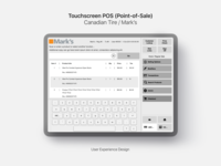 UX Design for a Touchscreen Point-of-Sale System