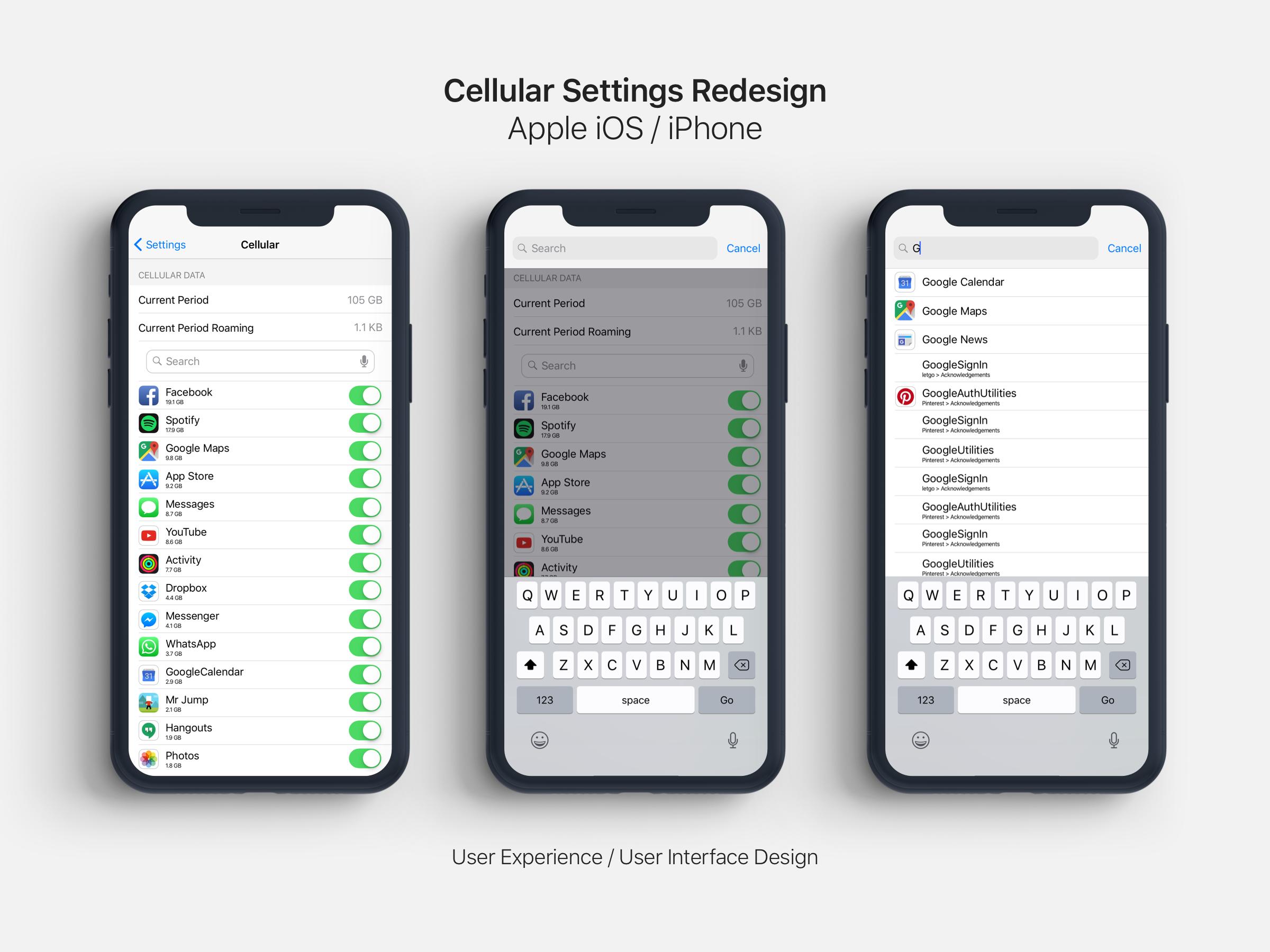 Apple settings cellular redesign