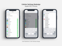 iOS / iPhone Cellular Settings Redesign