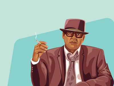 old man design art illustration art portrait illustration portrait vector minimal illustration flat