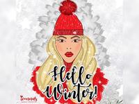 Hello Winter Illustration