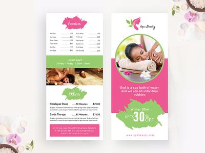 Beauty Spa Rack card