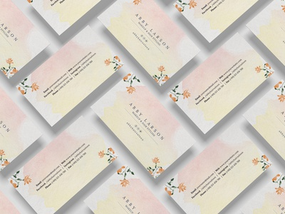Business Card watercolor