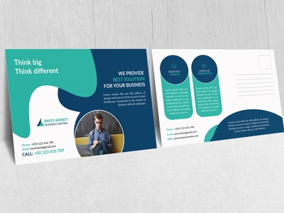 Creative Business agency Post card