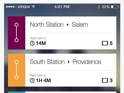 MBTA App Redesign ios redesign mbta