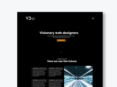 Agency landing page. web ui design