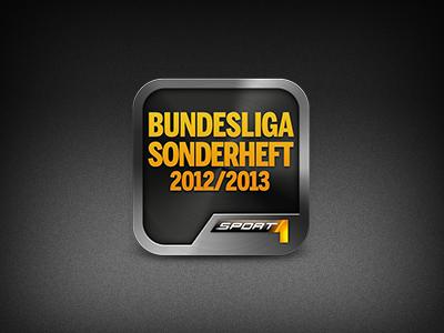 SPORT1 Sonderheft 2012 sport1 magazine german bundesliga soccer fussball football 2012 icon sport ipad apple 1024x1024 metal black