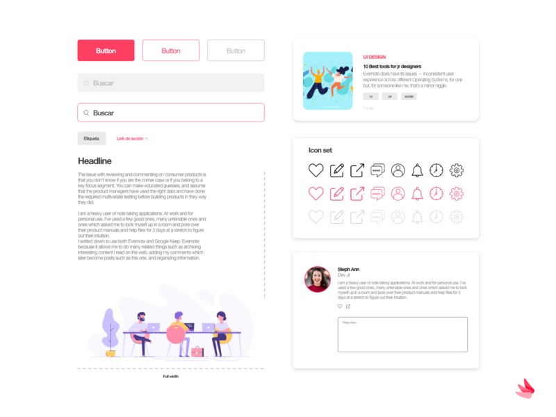 Blog set gradient xd white app web dribbble adobe minimal ux design ui