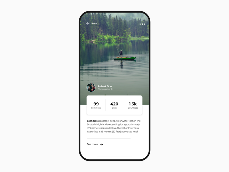 Photography Social App logo dashboard clean black animation photoshop mobile sketch landing gradient xd white app web dribbble adobe minimal ux design ui