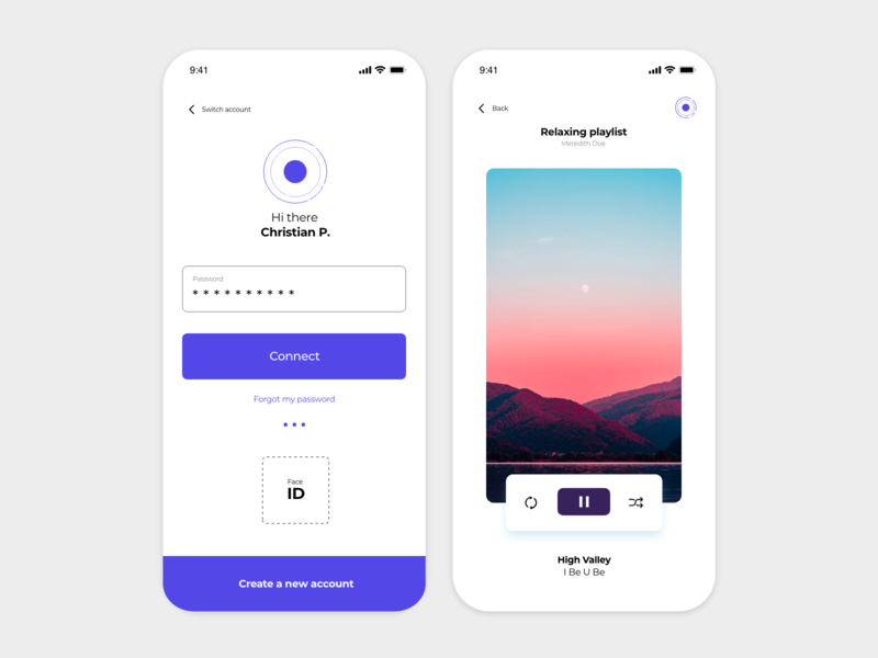 Login x Music Player photoshop mobile sketch landing gradient xd white app web dribbble adobe minimal logo ux design ui music music app login music album
