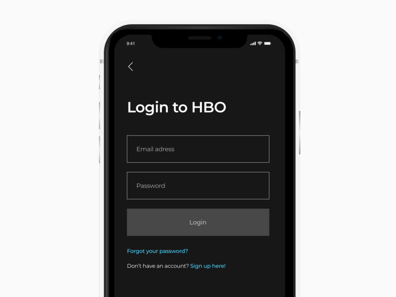 HBO Mobile L logo dashboard clean black animation photoshop mobile sketch landing gradient xd white app web dribbble adobe minimal ux design ui