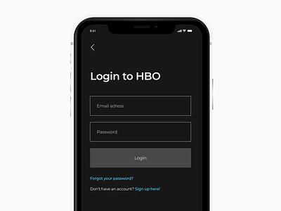 HBO Mobile L logo dashboard clean black animation photoshop mobile sketch landing gradient xd white app web dribbble adobe minimal ux design ui