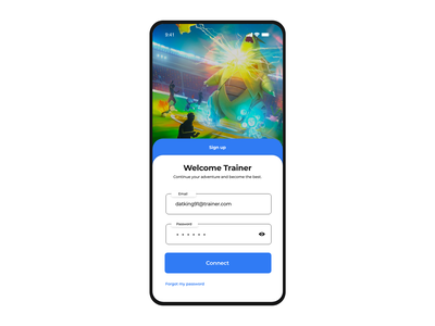 Pokemon Go - Log in gradient xd white app web dribbble adobe minimal ux design ui