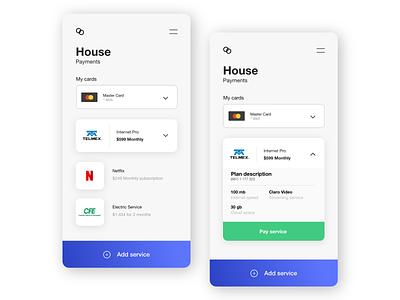 Service Payments gradient xd white app web dribbble adobe minimal ux design ui