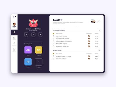 Monster Managment gradient xd white app web dribbble adobe minimal ux design ui