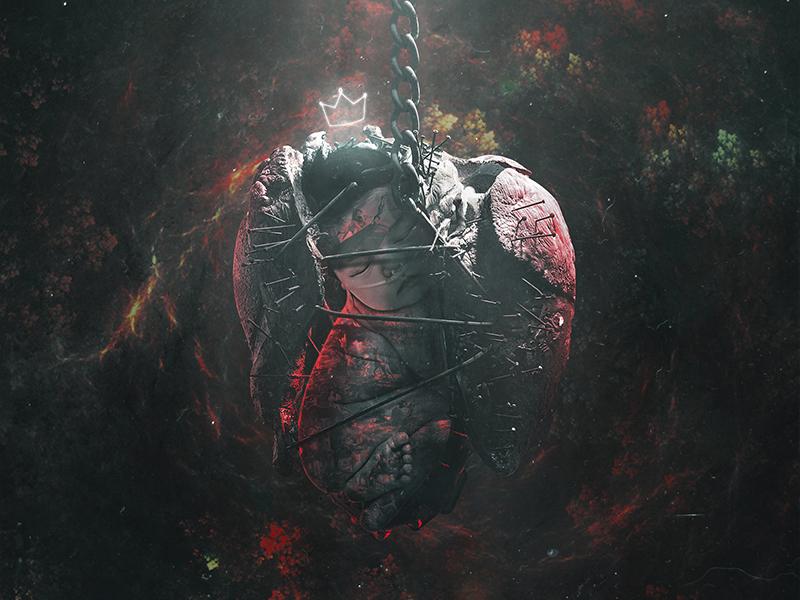 C A N C E R pain art lonely digitalart darkness fantasy disney newborn baby cancer