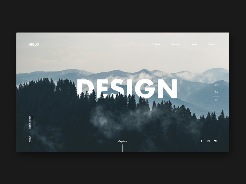 Agency Landing Page web ui forest mountains page landing design agency