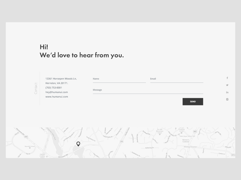 Free simple contact form (Freebie) free freebie map design ui landing web form contact