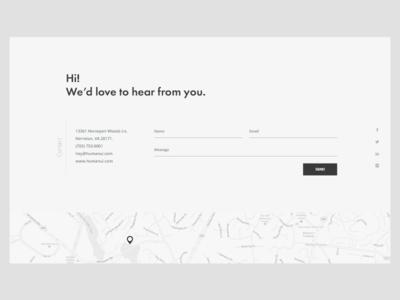 Free simple contact form (Freebie) free freebie map design ui landing web form contact