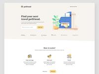 Petfriend - Landing page minimalist logo website concept designs website design minimalist colors pet startup minimal website product interface ux flat page web landing design ui