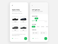 Car Loan App credit loan car flat web website mobile app design mobile app mobile design mobile ui mobile application app product interface ux design ui