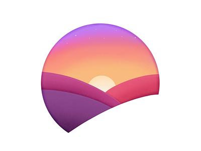 Dawn design illustration nature yellow orange pink violet dawn