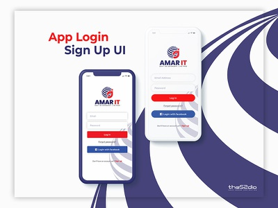 App Login UI user interface branding ui app app login uiux
