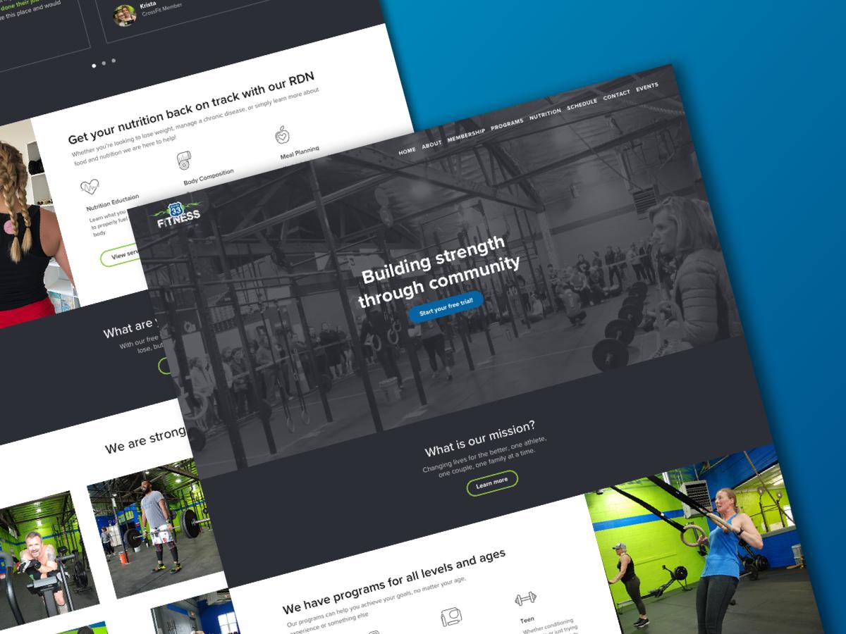 CrossFit marketing site branding website landingpage homepage marketing crossfit fitness sketch ux ui web welcome design