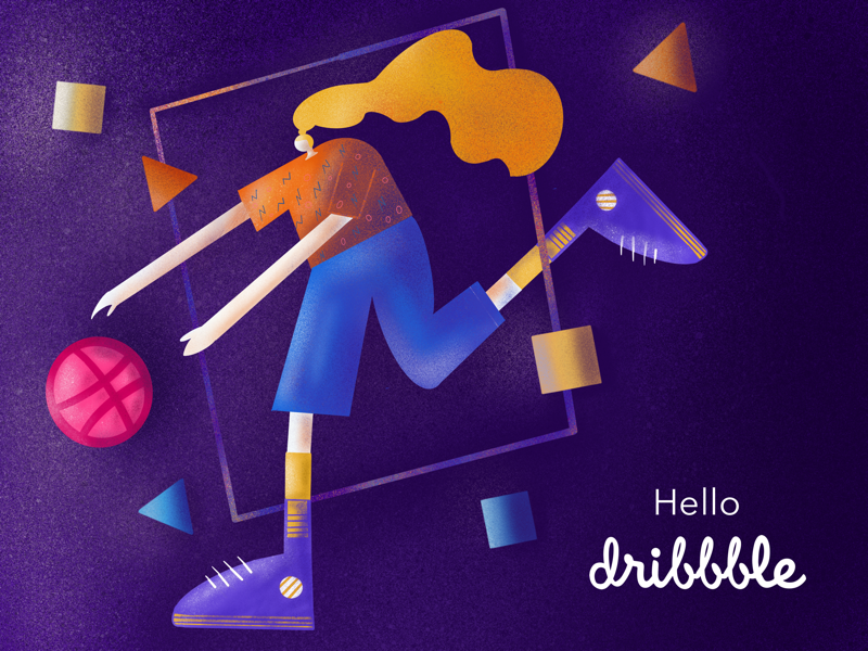 Hello Dribbble! @illustration @proceate @ipadpro