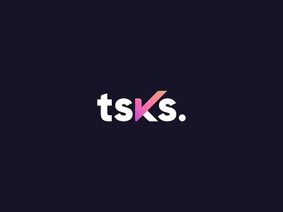 tsks - Logo concept website tasks todolist task list todo task management task manager managment manager task application app typography branding web concept logotype logo design type logo