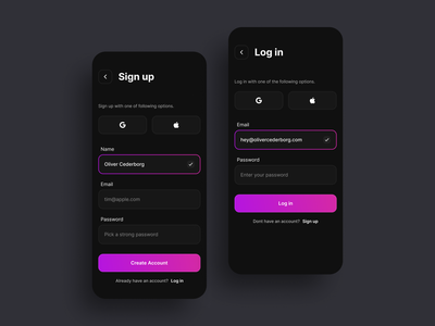 Sign up - Daily UI 001 screen login daily ui dark mode sign up signup dailyui 001 001 daily web design application web ux page app ui design