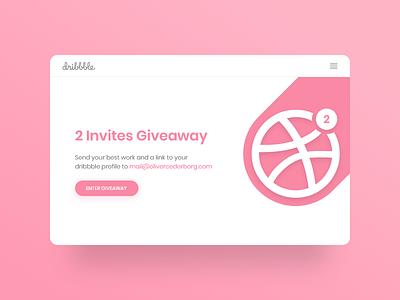 2 Dribbble Invites [CLOSED] ui giveaway invitation invitations invite invites dribbble 2