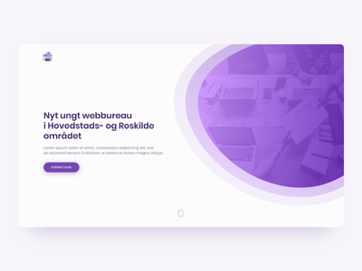 Web agency landing page ui home front agency design app web page landing