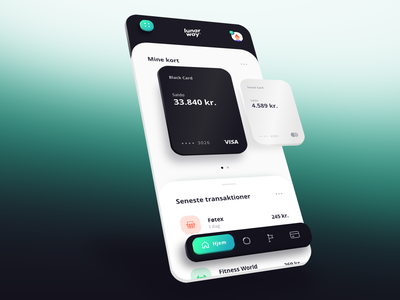 Banking app page concept design application app ux ui uiux way lunar danish banking app banking finance 3d