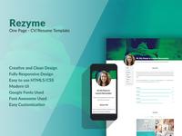 Rezyme CV/Resume Template
