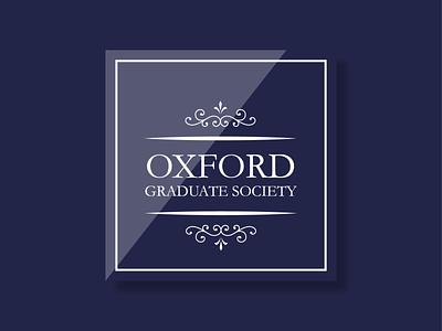 Oxford Graduate Society Logo oxford pennant logo design prestigious sophisticated vintage minimalist classic branding logo oxford