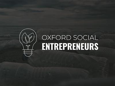 Oxford Social Entrepreneurs Logo logodesign social impact ideation idea growth icon lineart black white light bulb social entrepreneurship logo