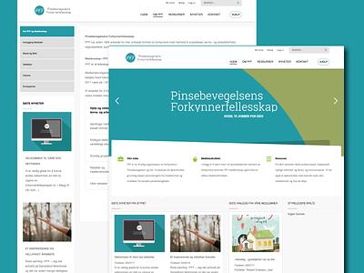 PFF content management clean corporate cyan website